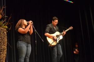 """PVPA students Sierra gamble and Tony Howes performed their version of """"Thinking About You"""" by Frank Ocean."""