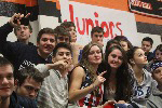 JUNIORS:  Students in the junior class show their school spirit in one of the week's assemblies.
