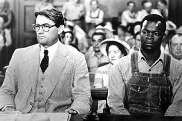 Atticus Finch and Tom Robinson inside the Macomb County Courtroom.