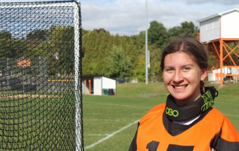 Field hockey goalie Cote nears 200 saves