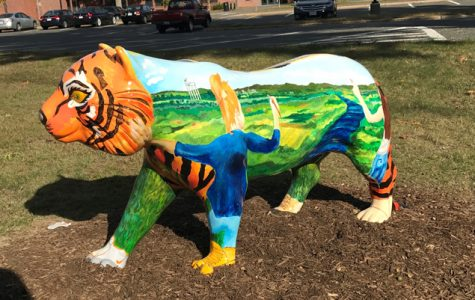 Tiger statues populate South Hadley