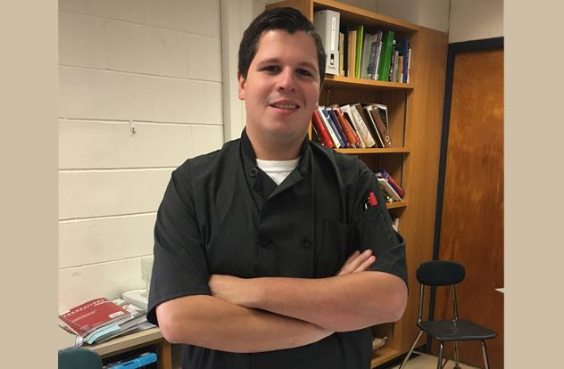 New Culinary teacher Ezra Bleau.